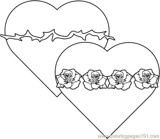 Twohearts002 Coloring Page