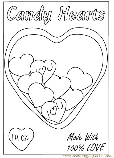 Valentine Heart1 Coloring Page