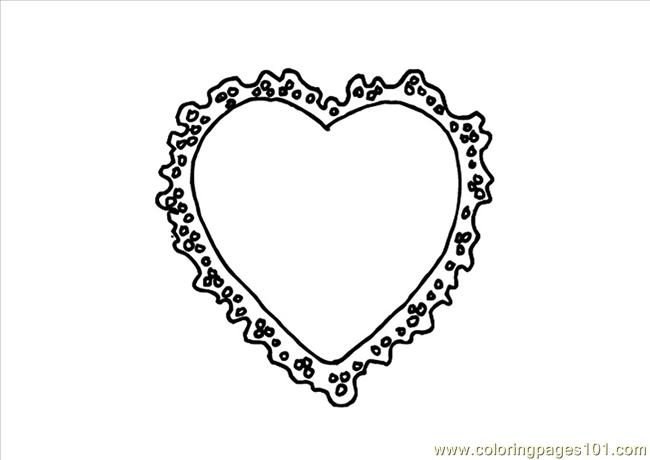 Valentine Heart Dl95 Coloring Page