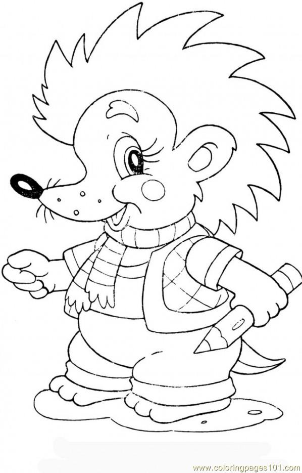 Baby Hedgehog Coloring Page Free Hedgehog Coloring Pages