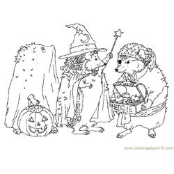 Hedgehogs magic Free Coloring Page for Kids
