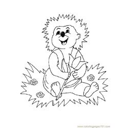 Babby hedgehogs Free Coloring Page for Kids