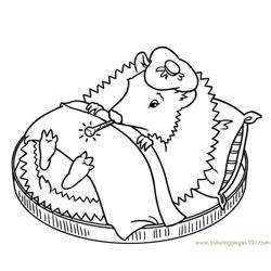 Sleeping hedgehog Free Coloring Page for Kids