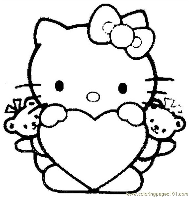Hello Kitty 04 Coloring Page Free Hello Kitty Coloring Pages