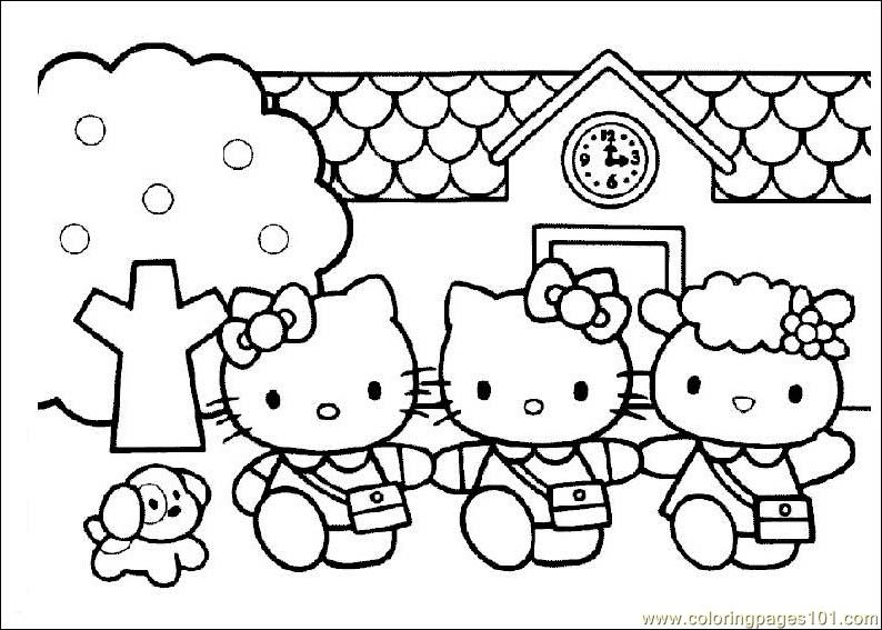 HelloKitty Coloring Page Free Hello Kitty Coloring Pages