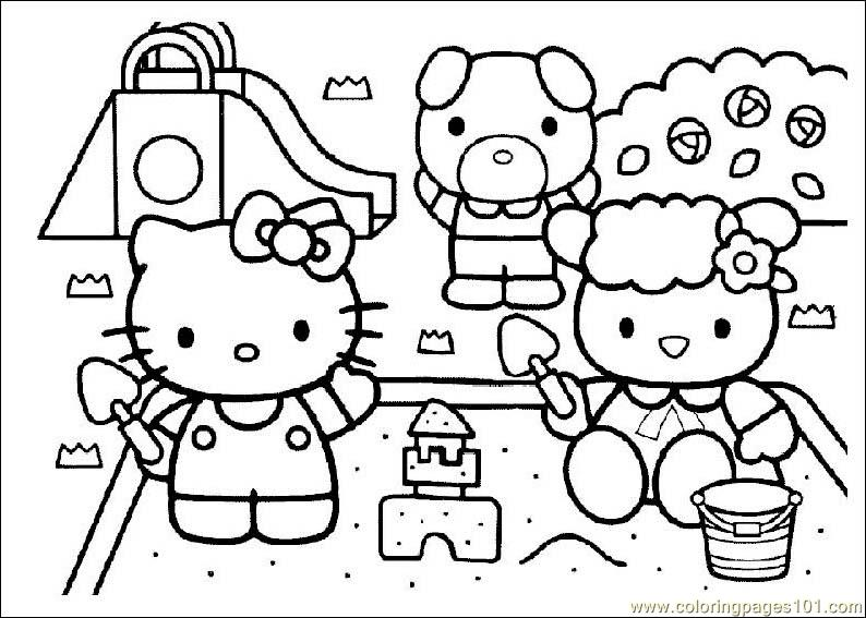 Hello Kitty Printable Coloring Page