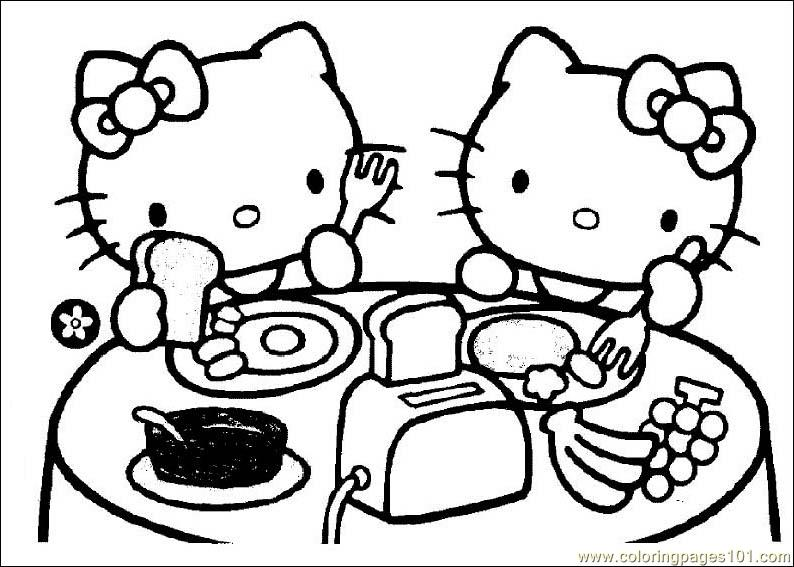 It is a picture of Hello Kitty Coloring Pages Free Printable for candy