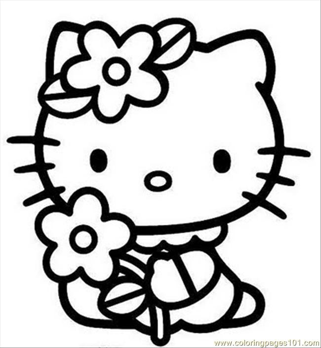 Hello Kitty2 Coloring Page - Free Hello Kitty Coloring ...