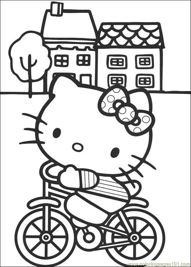 Hello Kitty 01 Coloring Page