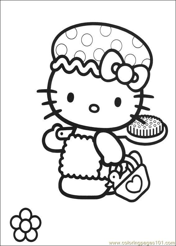 Hello Kitty 02 Coloring Page