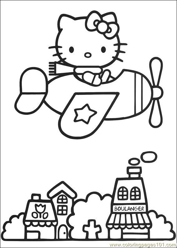 Hello Kitty 05 Coloring Page