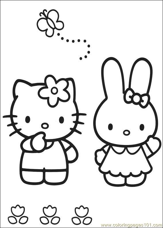 Hello Kitty 06 Coloring Page