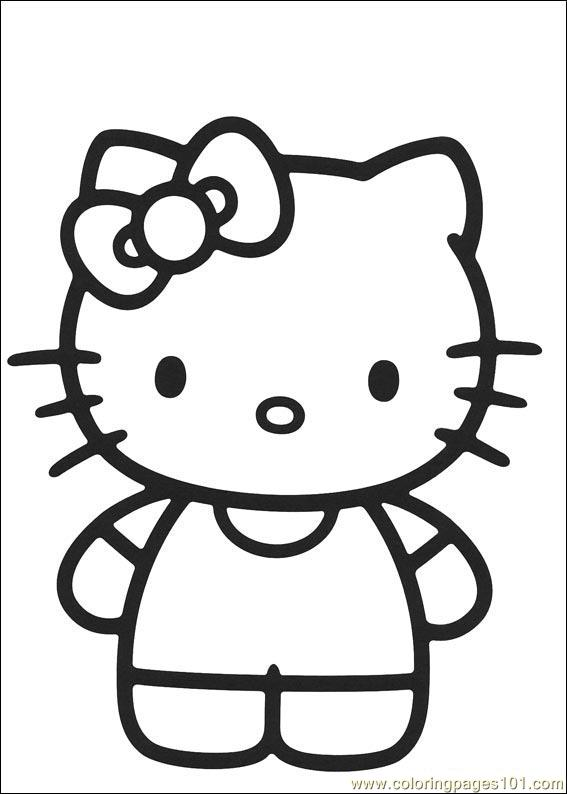 Hello Kitty 07 Coloring Page