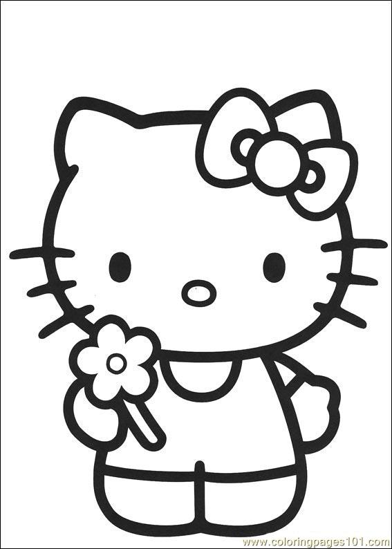 Hello Kitty 08 Coloring Page