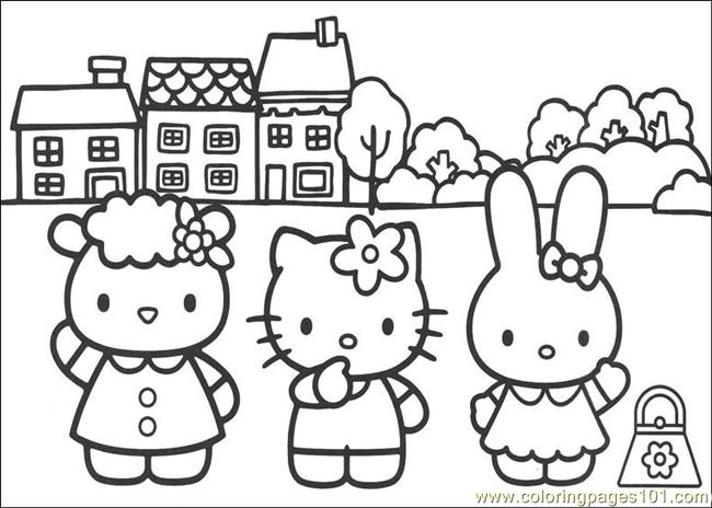 Hello Kitty 09 Printable Coloring Page For Kids And Adults