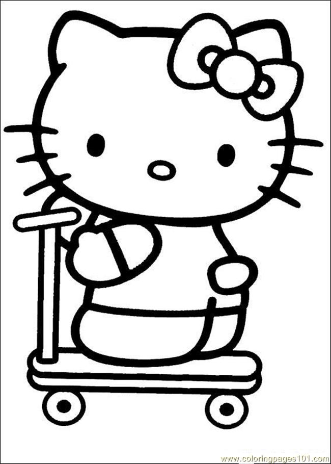 Hello Kitty 12 Coloring Page  Free Hello Kitty Coloring Pages