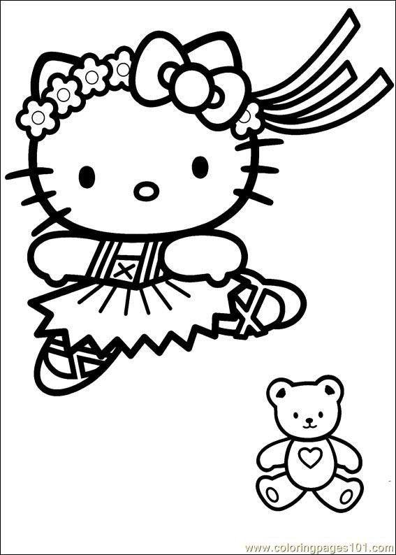 Hello Kitty 16 Coloring Page