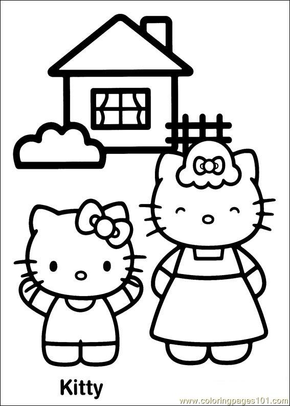 Hello Kitty 17 Coloring Page
