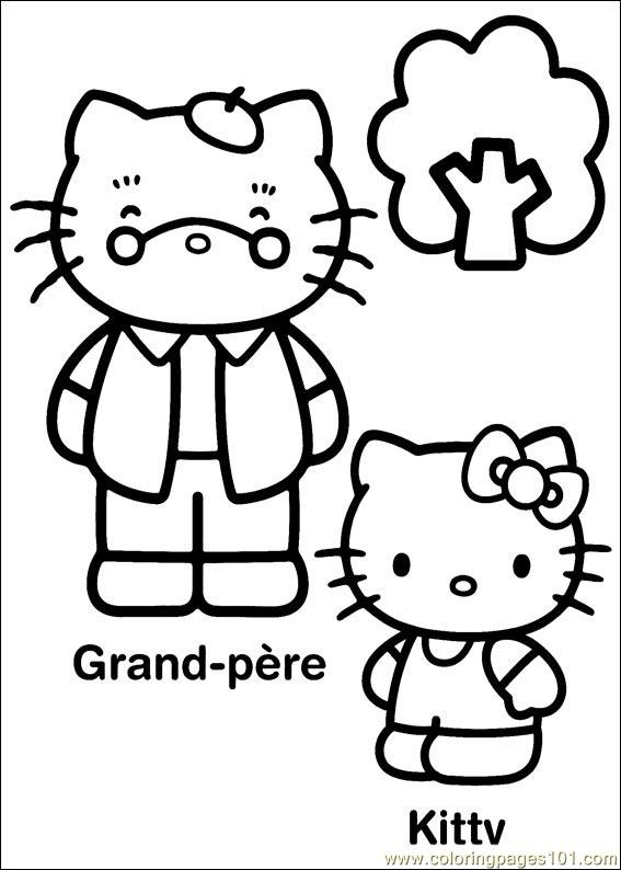 Hello Kitty 24 Coloring Page