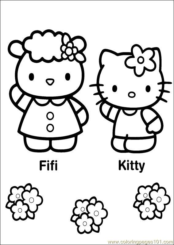 Hello Kitty 27 Coloring Page