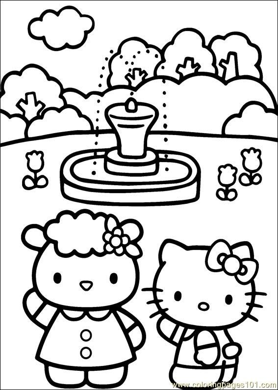 Hello Kitty 28 Coloring Page  Free Hello Kitty Coloring Pages
