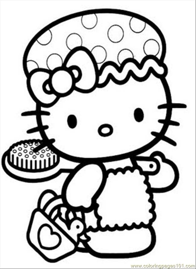Hellokitty2 Coloring Page