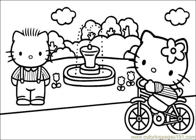 Hello Kitty 30 Coloring Page
