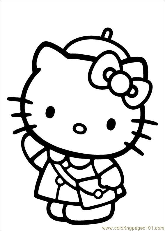 Hello Kitty 31 Coloring Page