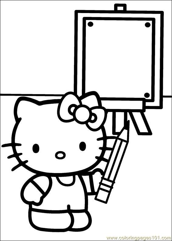 Hello Kitty 33 Coloring Page