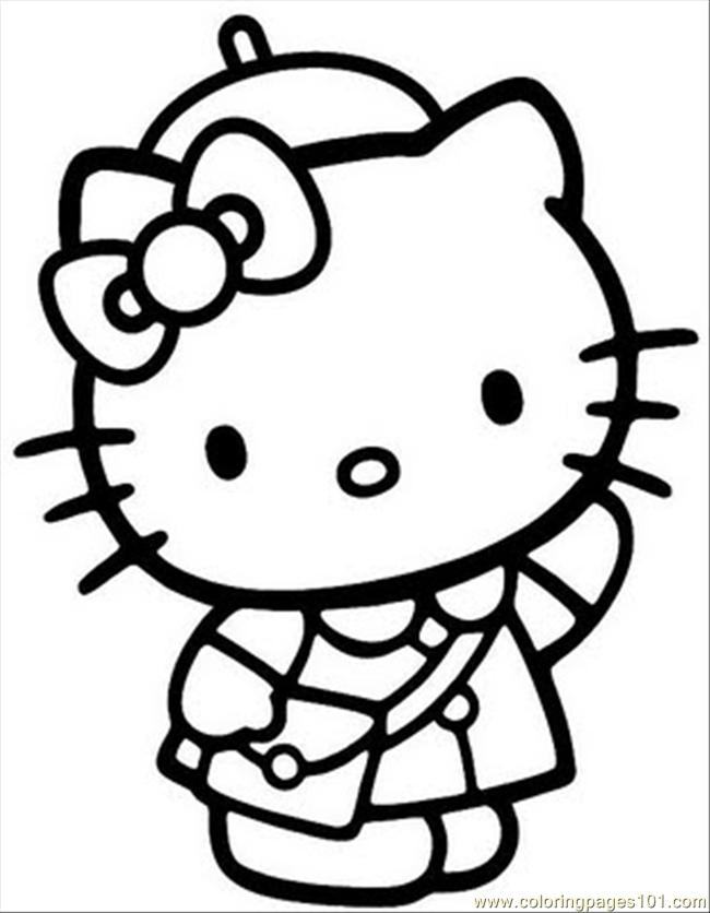 Hellokitty4 Coloring Page