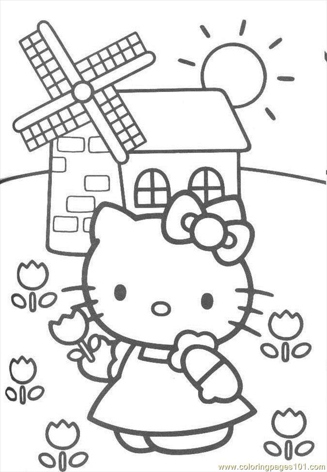 Kitty0 Coloring Page