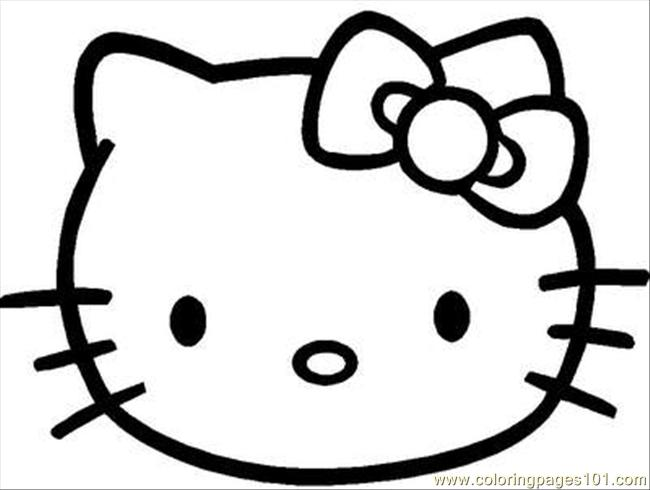 Kitty14 Coloring Page  Free Hello Kitty Coloring Pages