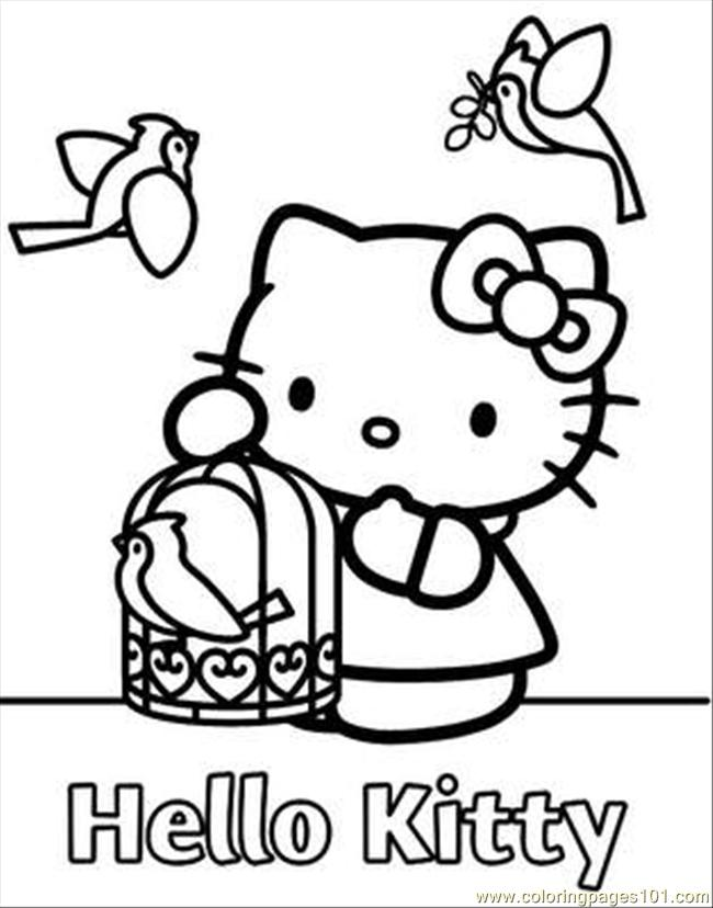 Kitty(18) Coloring Page