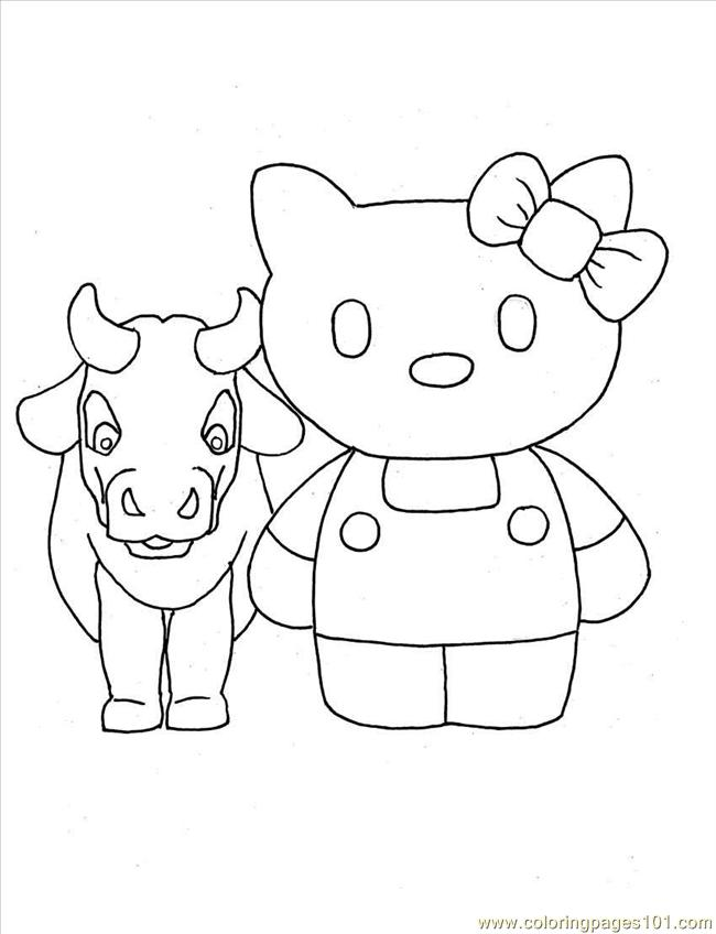 Kitty1 Full Coloring Page