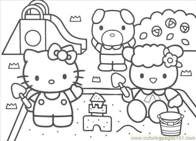 Kitty6 Coloring Page