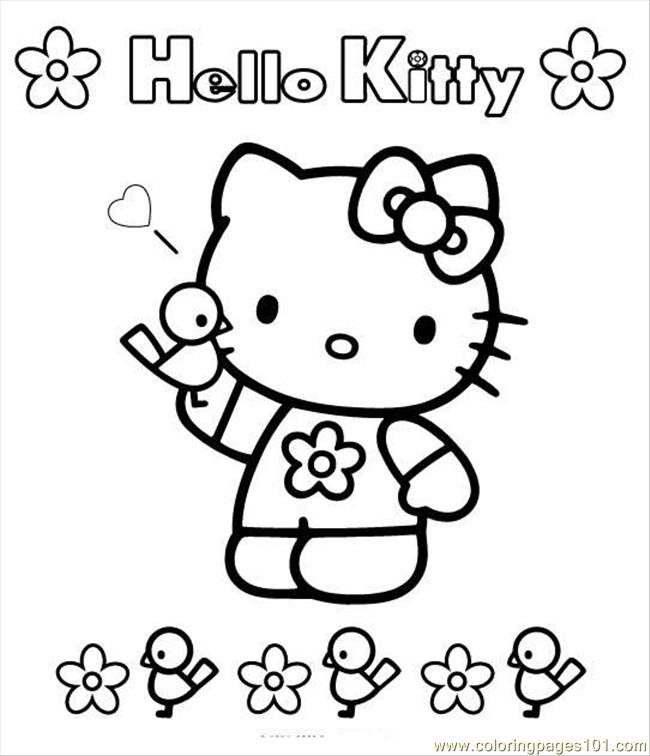 Kitty7 Coloring Page
