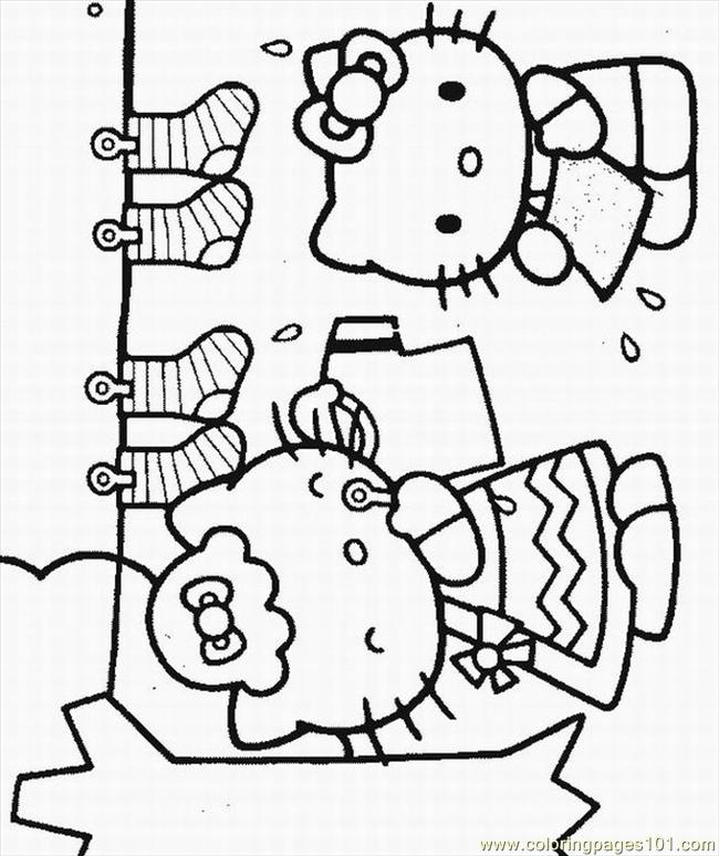 Of Hello Kitty Lrg Coloring Page