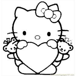Hello Kitty  04 Free Coloring Page for Kids