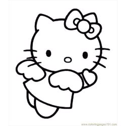 Hellokittycoloringpage Free Coloring Page for Kids