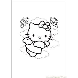 Hello_Kitty Free Coloring Page for Kids