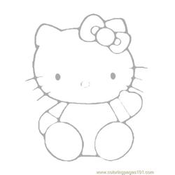 Hello Kitty Free Coloring Page for Kids