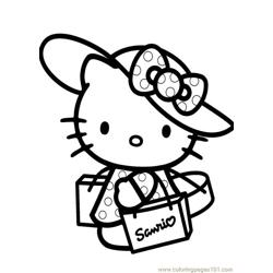 Hello Kitty (1) Free Coloring Page for Kids