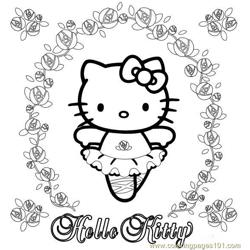 Hello Kitty (2) Free Coloring Page for Kids