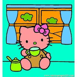 Kitty20 Free Coloring Page for Kids