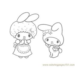 My Melody Free Coloring Page for Kids