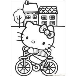 Hello Kitty 01 Free Coloring Page for Kids