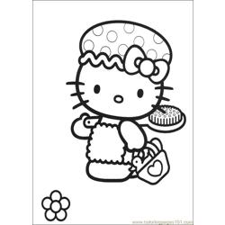 Hello Kitty 02 Free Coloring Page for Kids