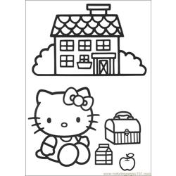 Hello Kitty 03 Free Coloring Page for Kids
