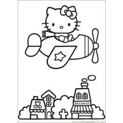 Hello Kitty 05 Free Coloring Page for Kids