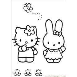Hello Kitty 06 Free Coloring Page for Kids
